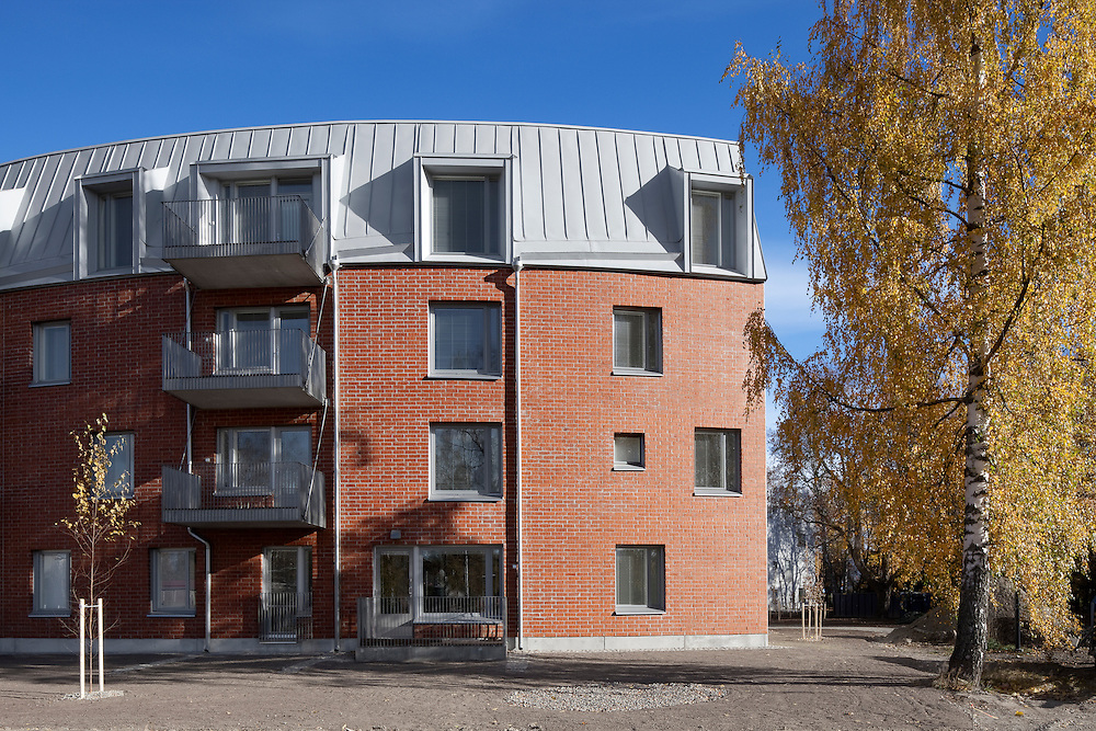Poltinaho housing block in Hämeenlinna, Finland designed by AOA architects.