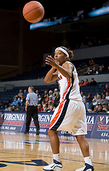 Virginia guard Sharnee Zoll (5) takes an in bound pass.  The Virginia Cavaliers women's basketball team faced the Richmond Spiders at the John Paul Jones Arena in Charlottesville, VA on November 18, 2007.