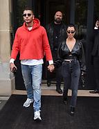 Kourtney Kardashian and boyfriend out in Paris - 27 Sep 2017