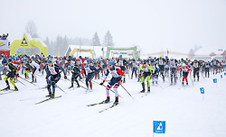 26.01.2019, Bad Mitterndorf, AUT, 40. Internationaler Steiralauf, 50 km Freie Technik, im Bild Läufer beim Start // during the 40th international Steiralauf 50 km Freestyle in Bad Mitterndorf, Austria on 2019/01/26. EXPA Pictures © 2019, PhotoCredit: EXPA/ Martin Huber