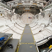 Space Shuttle Endeavour (OV-105) cargo bay with ISS docking port.