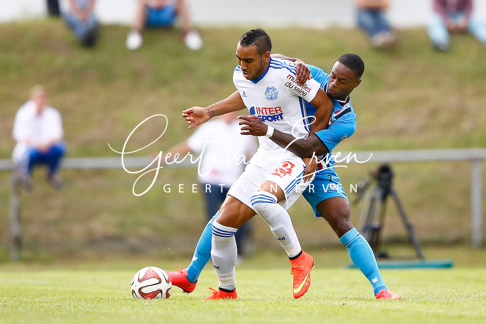 Onderwerp/Subject: Olympique Marseille - Willem II - Friendly<br /> Reklame:  <br /> Club/Team/Country: <br /> Seizoen/Season: 2014/2015<br /> FOTO/PHOTO: Dimitri PAYET (L) of Olympique Marseille in duel with Terell ONDAAN (R) of Willem II. (Photo by PICS UNITED)<br /> <br /> Trefwoorden/Keywords: <br /> #04 #17 $94 &plusmn;1405930080633<br /> Photo- &amp; Copyrights &copy; PICS UNITED <br /> P.O. Box 7164 - 5605 BE  EINDHOVEN (THE NETHERLANDS) <br /> Phone +31 (0)40 296 28 00 <br /> Fax +31 (0) 40 248 47 43 <br /> http://www.pics-united.com <br /> e-mail : sales@pics-united.com (If you would like to raise any issues regarding any aspects of products / service of PICS UNITED) or <br /> e-mail : sales@pics-united.com   <br /> <br /> ATTENTIE: <br /> Publicatie ook bij aanbieding door derden is slechts toegestaan na verkregen toestemming van Pics United. <br /> VOLLEDIGE NAAMSVERMELDING IS VERPLICHT! (&copy; PICS UNITED/Naam Fotograaf, zie veld 4 van de bestandsinfo 'credits') <br /> ATTENTION:  <br /> &copy; Pics United. Reproduction/publication of this photo by any parties is only permitted after authorisation is sought and obtained from  PICS UNITED- THE NETHERLANDS
