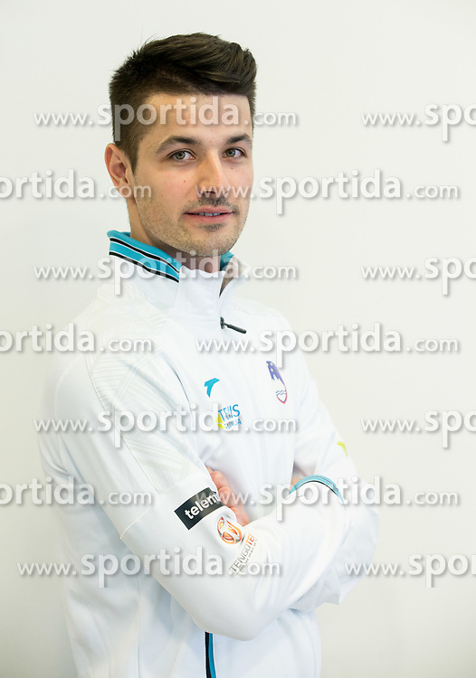 Mike Urbanija during press conference of Slovenian National Men Tennis Team before Davis Cup against South Africa Republic, on March 30, 2017 in Ljubljana, Slovenia. Photo by Vid Ponikvar / Sportida