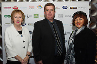 13/11/2015 Repro free   Cllr Terry O Flaherty, Paraic Naughton Galway Shopping  Centre Manager and Patricia Cunningham Renmore   at Galway Glamour  by Galway Shopping Centre at the g Hotel hosted by Sile Seoige  <br /> Photo:Andrew Downes, xposure.