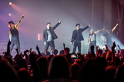 © Licensed to London News Pictures . 30/05/2014 . Manchester , UK . New Kids on the Block perform live at the Apollo Theatre . Photo credit : Joel Goodman/LNP