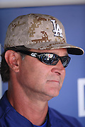 LOS ANGELES, CA - MAY 27:  Don Mattingly #8 manager of the Los Angeles Dodgers talks to the media before the game against the Los Angeles Angels of Anaheim on Monday, May 27, 2013 at Dodger Stadium in Los Angeles, California. The Dodgers won the game 8-7. (Photo by Paul Spinelli/MLB Photos via Getty Images) *** Local Caption *** Don Mattingly