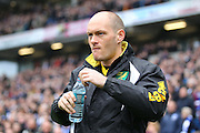 Norwich City Manager Alex Neil during the Sky Bet Championship match between Brighton and Hove Albion and Norwich City at the American Express Community Stadium, Brighton and Hove, England on 3 April 2015. Photo by Phil Duncan.