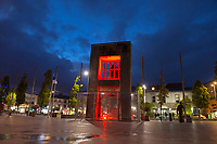 Browne Doorway in eyre Sq. Galway goes Red for World Heart Day support Croi  Photo:Andrew Downes, xposure