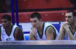 Ulysses Tamar Slay (15), Marko Tusek (17) and Andrea Crosariol (11) at Euroleague match between KK Cibona and Air Avellino, on November 26, 2008, in Cibona Tower, Zagreb, Croatia. Match was won by Cibona 82:79. (Photo by Vid Ponikvar / Sportida)