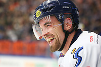 2018-09-22 | Växjö, Sweden: Linköping HC Eddie Larsson (53) laughing during the game between Växjö and Linköping at Vida Arena ( Photo by: Fredrik Sten | Swe Press Photo )<br /> <br /> Keywords: Ice hockey, Växjö, SHL, Linköping, Vida Arena, Ice hockey, Växjö, SHL, Växjö, Linköping, Vida Arena