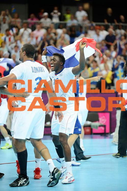DESCRIZIONE : Handball Jeux Olympiques Londres Finale Homme<br /> GIOCATORE : Abalo Luc FRA<br /> SQUADRA : France Homme<br /> EVENTO : Jeux Olympiques<br /> GARA : France Suede<br /> DATA : 12 08 2012<br /> CATEGORIA : Handball Jeux Olympiques<br /> SPORT : Handball<br /> AUTORE : JF Molliere <br /> Galleria : France JEUX OLYMPIQUES 2012 Action<br /> Fotonotizia : Jeux Olympiques Londres Finale Homme<br /> Predefinita :