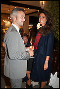 MICHA WEIDMANN AND CATERINA FABRIZIO at the preview of LAPADA Art and Antiques Fair. Berkeley Sq. London. 23 September 2014.