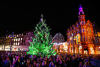 Hull City Centre, Kingston Upon Hull, East Yorkshire, United Kingdom, 27 November, 2014. Christmas Lights Turn On Pictured: