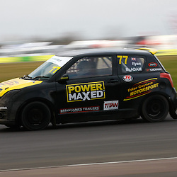 Scottish motorbike star Ryan Mcadam made his rallycross debut. First round of the British Rallycross Championship held at Croft Circuit. (c) Matt Bristow | SportPix.org.uk
