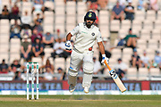 Rishabh Pant of India makes it to the crease as the ball is thrown at the stumps during the 4th day of the 4th SpecSavers International Test Match 2018 match between England and India at the Ageas Bowl, Southampton, United Kingdom on 2 September 2018.