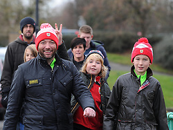 Bristol City fans make their way to Ashton Gate as the team face West Ham United in FA Cup fourth round - Photo mandatory by-line: Paul Knight/JMP - Mobile: 07966 386802 - 25/01/2015 - SPORT - Football - Bristol - Ashton Gate - Bristol City v West Ham United - FA Cup fourth round