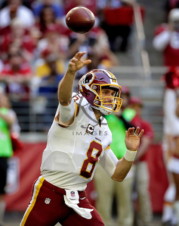 Washington Redskins quarterback Kirk Cousins (8) throws during the first half of an NFL football game against the Arizona Cardinals, Sunday, Dec. 4, 2016, in Glendale, Ariz. (AP Photo/Rick Scuteri)