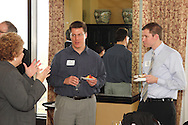 (from left) Beth Redden of The Dayton Foundation, Matt Drerup of USGAO and John Krebs of Westendorf, Mauch, Ross & Westendorf CPAs during a Generation Dayton estate planning meeting at the Dayton Racquet Club in downtown Dayton, Tuesday, March 27, 2012.