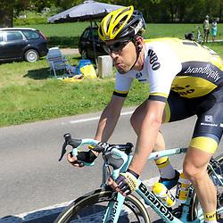 08-05-2016: Wielrennen: Giro: Arnhem<br />ARNHEM (NED) wielrennen<br />De tweede etappe van de voerde het peloton door de over Betuwe en de Liemers.<br />Maarten Tjallingi