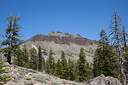 """Castle Peak 1"" - Photograph of Castle Peak, a mountain in the Tahoe National Forest, near the Pacific Crest Trail."