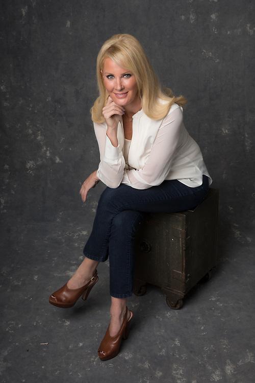 Portrait of Chef Sandra Lee in studio photographed in NYC