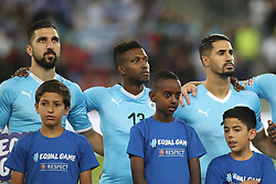 October 14, 2018 - Be'Er Sheva, Israel - Taleb Twatiha (#13) of Israel before the UEFA Nations League C group 1 match between Israel and Albania at Turner Stadium in Be'er Sheva, Israel, on 14 October 2018. Israel won 2-0. (Credit Image: © Ahmad Mora/NurPhoto via ZUMA Press)