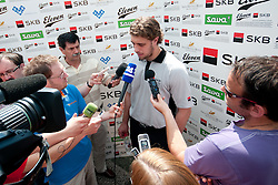 Anze Kopitar, NHL hockey star of LA Kings, during press conference at Anze's Eleven and SKB Charity Golf Tournament, on June 11, 2011 in Golf court Bled, Slovenia. (Photo by Matic Klansek Velej / Sportida)