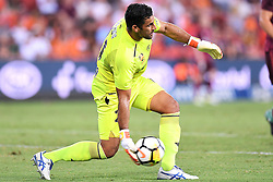 January 8, 2018 - Brisbane, QUEENSLAND, AUSTRALIA - Jamie Young of the Roar (21) passes the ball during the round fifteen Hyundai A-League match between the Brisbane Roar and Sydney FC at Suncorp Stadium on Monday, January 8, 2018 in Brisbane, Australia. (Credit Image: © Albert Perez via ZUMA Wire)