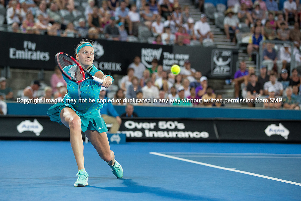 PETRA KVITOVA (CZE) during Day 4 of the 2015 Apia Sydney International played at Sydney Olympic Park Tennis Centre, Sydney, Australia, Wednesday, 14 Jan 2015. Photo: Murray Wilkinson (SMP Images).
