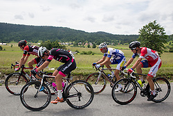 Canecky Marek (Slovakia) of Amplatz - BMC, Finkst Tilen of Radenska Ljubljana, De Ketele Kenny (Belgium) of Topsport Vlaanderen - Baloise and Bozic Jon (Slovenia) of Adria Mobil during Stage 1 of 23rd Tour of Slovenia 2016 / Tour de Slovenie from Ljubljana to Koper/Capodistria (177,8 km) cycling race on June 16, 2016 in Slovenia. Photo by Vid Ponikvar / Sportida