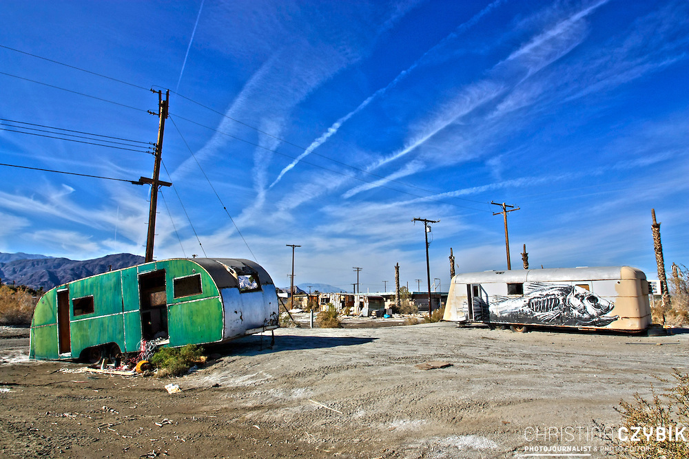 The abandoned places around Salton Sea in California