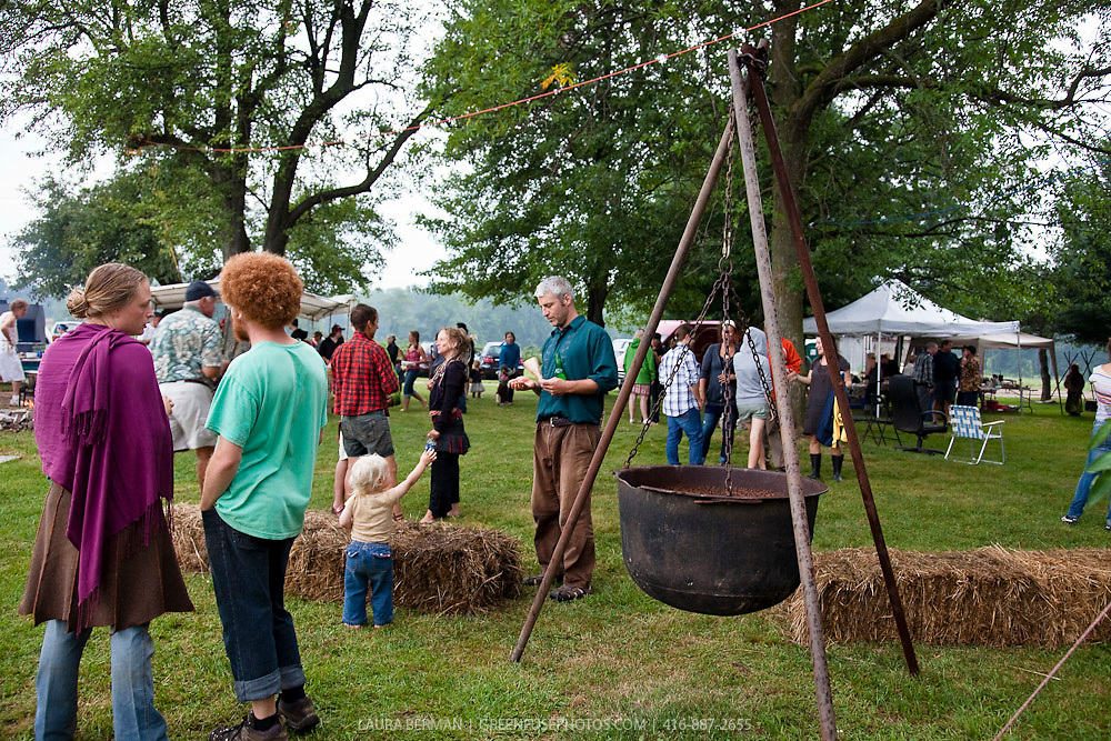 TedStock 2010.The party at Ted Thorpe's farm, Saturday August 21, 2010--before the rains came.