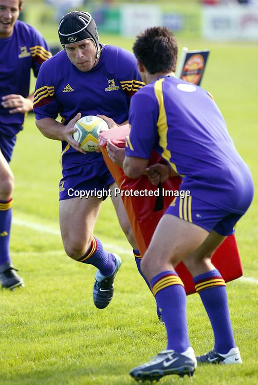 5 February, 2004. Centennial Park, Oamaru. Super 12 Pre-season. Highlanders v Cheifs <br />Sam Harding.<br />Pic: Photosport