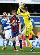 Ipswich Town goalkeeper Bartosz Bialkowski claims a ball in his area during the Sky Bet Championship match between Queens Park Rangers and Ipswich Town at the Loftus Road Stadium, London, England on 6 February 2016. Photo by Andy Walter.