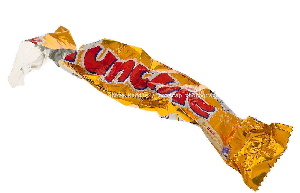 Cadbury Crunchie Chocolate Bar Wrapper - 2011