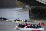 London. United Kingdom, 2017. Oxford University, Annual Trial Eights, raced over the Championship Course, Putney to Mortlake. River Thames, <br /> <br /> Wednesday  06/12/2017<br /> <br /> [Mandatory Credit:Peter SPURRIER Intersport Images]<br /> <br /> OUBC Crew Names. <br /> STABLE White Shirts<br /> Bow. Jonathan Olandi<br /> 2. Charles Buchanan<br /> 3. Will Cahill<br /> 4. Alexander Wythe<br /> 5. William Geffen<br /> 6. Anders Weiss<br /> 7. Iain Mandale<br /> Stroke. Vassilis Ragoussis<br /> Cox. Zachary Thomas Johnson<br /> <br /> STRONG Black Shirts<br /> Bow. Luke Robinson<br /> 2. Angus Forbes<br /> 3. Nicholas Elkington<br /> 4. Benedict Aldous<br /> 5. Tobias Schroder<br /> 6. Joshua Bugajski<br /> 7. Claas Mertens<br /> Stroke. Felix Drinkall<br /> Cox. Anna Carbery