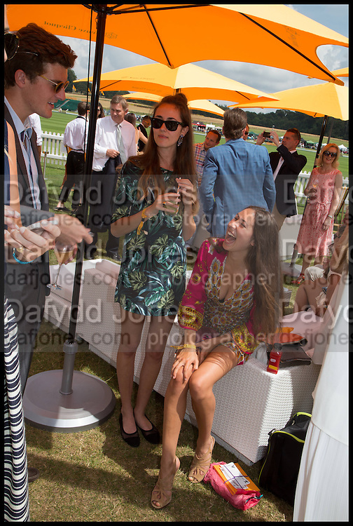 PEREGRINE PEARSON; ARICIAN LAMBIS; TAMASEA LAMBIS; ( PINK )  2004 Veuve Clicquot Gold Cup Final at Cowdray Park Polo Club, Midhurst. 20 July 2014