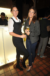 Left to right, SARAH LANGTON and CLARE FAULKENER at the Launch of Peroni Nastro Azzurro Accademia del Film Wrap Party Tour held atThe Boiler House, 152 Brick Lane, London E1 on 25th August 2010.