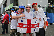 England fans outside the stadium during the Euro 2016 Group B match between Slovakia and England at Stade Geoffroy Guichard, Saint-Etienne, France on 20 June 2016. Photo by Phil Duncan.