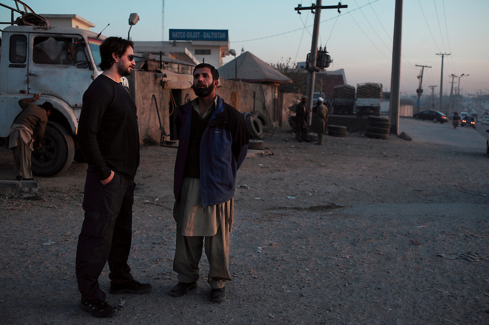 The Hurt Locker Academy award winning screenwriter Mark Boal undertaking research for Zero Dark Thirty on the streets of Rawalpindi, Pakistan on December 5, 2011.