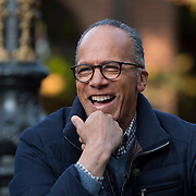 NBC anchor Lester Holt finished interviewing local residents as he travels around the country getting the pulse of the country on Sunday January 15, 2017 in Sacramento, Calif.