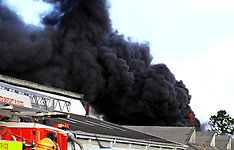 Auckland-Car wreckers yard ablaze, Te Atatu South