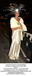 COUNTESS LEOPOLD VON BISMARCK at a party in London on 31st January 2004.<br /> PRE 331