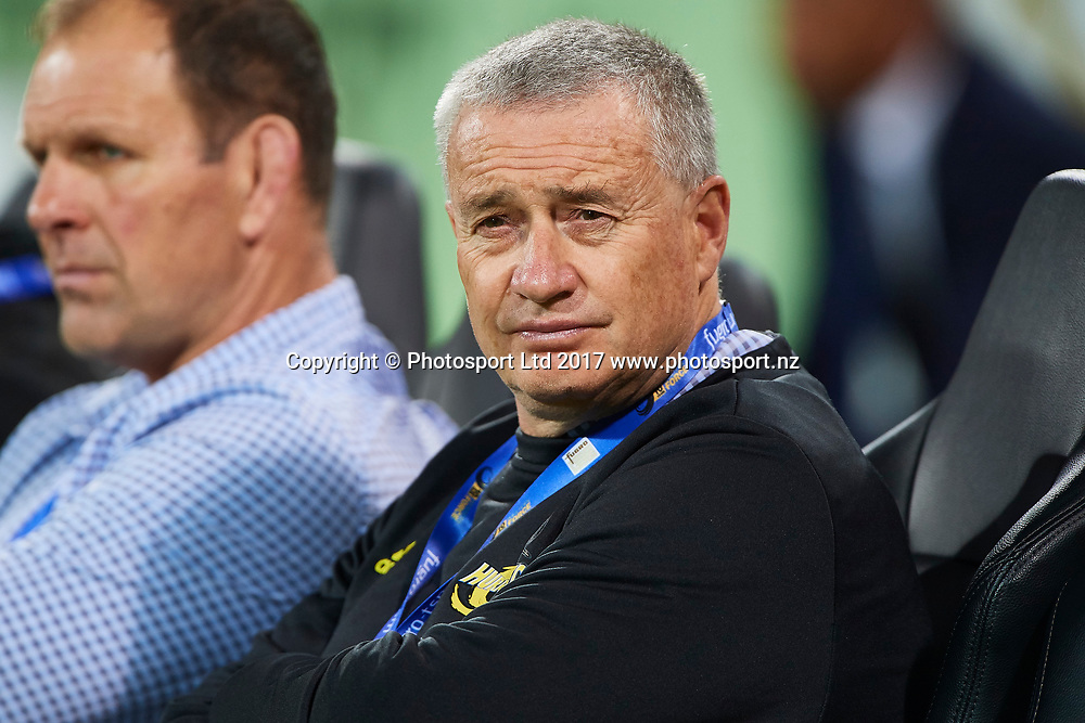 Chris Boyd of the Hurricanes looks on. Western Force v Hurricanes, Round 15 of the 2017 Super Rugby season at NIB Stadium, Perth, Australia. 3 June 2017. Copyright photo: Daniel Carson / www.photosport.nz