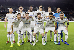 November 1, 2018 - Los Angeles, California, U.S - Team photo of the Real Salt Lake prior to their MLS playoff game with the LAFC on Thursday November 1, 2018 at Banc of California Stadium in Los Angeles, California. LAFC lost to Real Salt Lake, 3-2. (Credit Image: © Prensa Internacional via ZUMA Wire)