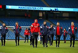 Bristol City players take a look around the Etihad Stadium  - Mandatory by-line: Matt McNulty/JMP - 09/01/2018 - FOOTBALL - Etihad Stadium - Manchester, England - Manchester City v Bristol City - Carabao Cup Semi-Final First Leg