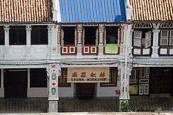 Old-fashioned architecture in Penang, Malaysia, Southeast Asia