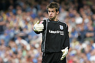Cardiff City v Norwich City, Coca Cola Championship match at Ninian Park in Cardiff on Saturday 23rd August 2008. Cardiff city goalkeeper Tom Heaton.
