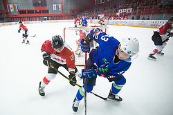 KALAN Luka (SLO) vs FURUHASHI Makuru (JAP) during OI pre-qualifications of Group G between Slovenia men's national ice hockey team and Japan men's national ice hockey team, on February 9, 2020 in Ice Arena Podmezakla, Jesenice, Slovenia. Photo by Peter Podobnik / Sportida