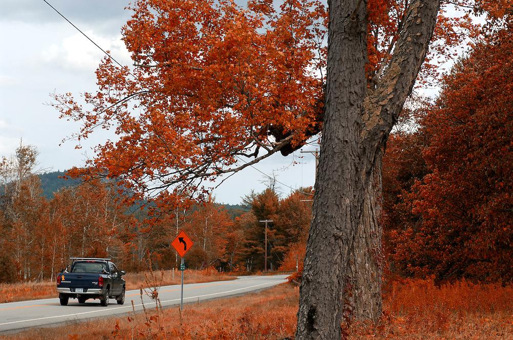 Country Road, Saranac Lake, Adirondack Mountains, New York, United States of America